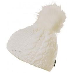 Progress Pompona bílá dámská pletená čepice