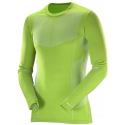 Salomon Primo Warm LS CN Tee M green 391019 pánské triko dlouhý rukáv
