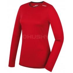 Husky Merino 100 Long Sleeve L červená dámské merino triko dlouhý rukáv