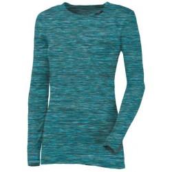 Progress Loca tyrkysový melír dámské triko dlouhý rukáv