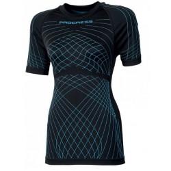 Progress Seamless SL NKRZ černá/světle modrá dámské triko krátký rukáv