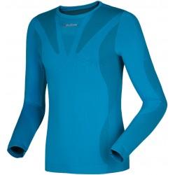 Husky Seamless Long Sleeve modrá unisex triko dlouhý rukáv