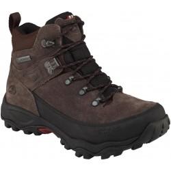 Viking Rondane Jr GTX dark brown/black dětské nepromokavé kožené trekové boty