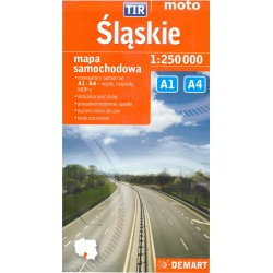 DEMART Slaskie / Slezské vojvodství 1:250 000 automapa