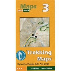Geoland Gruzie Barisakho, Roshka, Juta, rokle Asa 1:50 000 turistická mapa