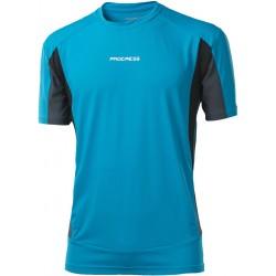 Progress Sprinter tyrkysová/černá/šedá pánské triko krátký rukáv