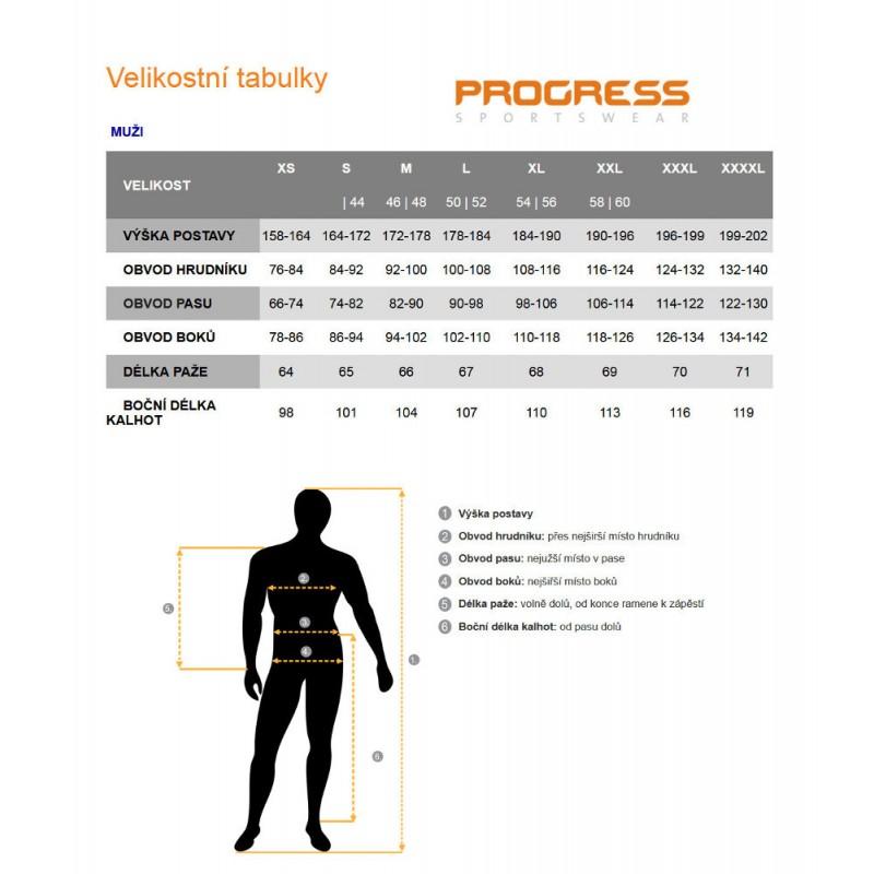 ca53f69d5ed ... Progress Aero Biking černá unisex lehká bunda vesta · Progress Tabulka  velikostí muži