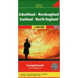 Freytag a Berndt Skotsko, Severní Anglie 1:400 000 automapa