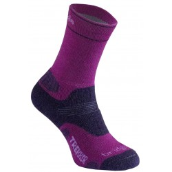 Bridgedale WoolFusion Trekker Women's CuPed berry/plum dámské trekové ponožky Merino vlna