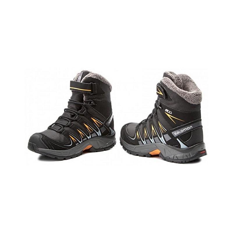 ... Salomon XA Pro 3D Winter TS CSWP J black marigold 398457 dětské zimní  nepromokavé boty ... 924f8efa44