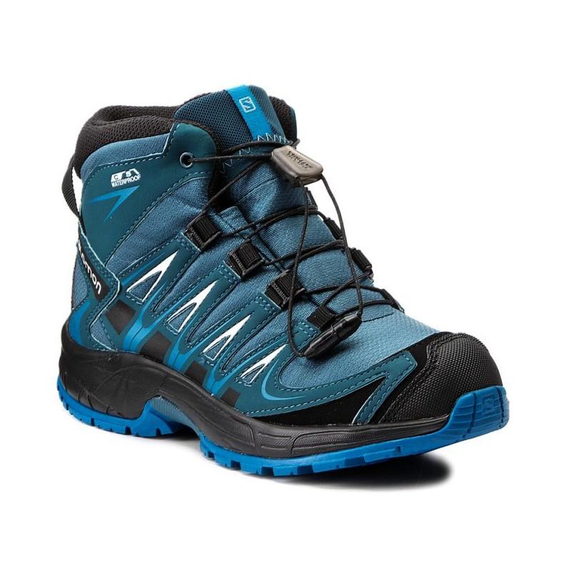 Salomon XA Pro 3D Mid CSWP K mallard blue r. pond 398532 dětské ... b8c18b03fc