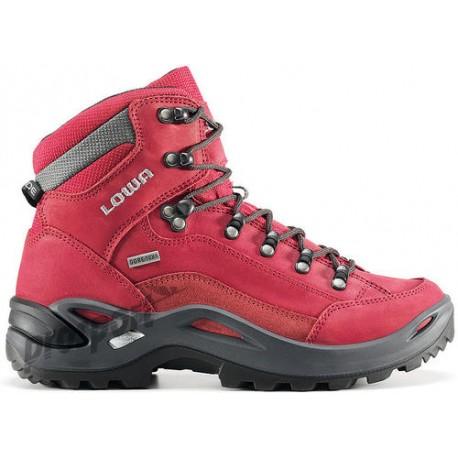 415bf387806 Lowa Renegade GTX Mid W red dámské nepromokavé kožené trekové boty