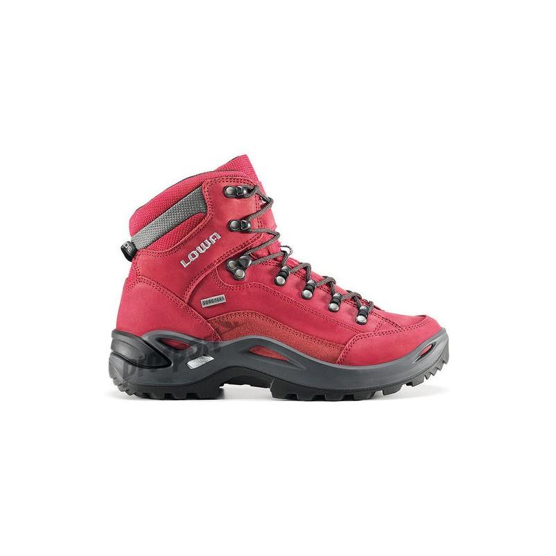 448615772 Lowa Renegade GTX Mid W red dámské nepromokavé kožené trekové boty