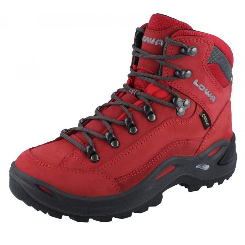 4abd32a90 ... Lowa Renegade GTX Mid W red dámské nepromokavé kožené trekové boty 2 ...