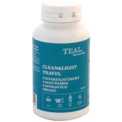 Teal Clean and Light travel univerzální čistící a mycí prášek z mýdlových ořechů
