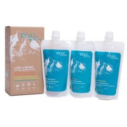Teal 3 Set 4 Sport 3x 250 ml set 3 pracích gelů z mýdlových ořechů