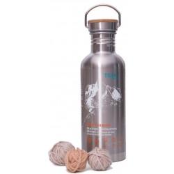Teal Sport Merino 1l nerezová láhev prací gel z mýdlových ořechů na vlnu a merinovlnu