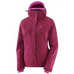 Salomon Brilliant Jacket W beet red 396880 dámská nepromokavá zimní lyžařská bunda