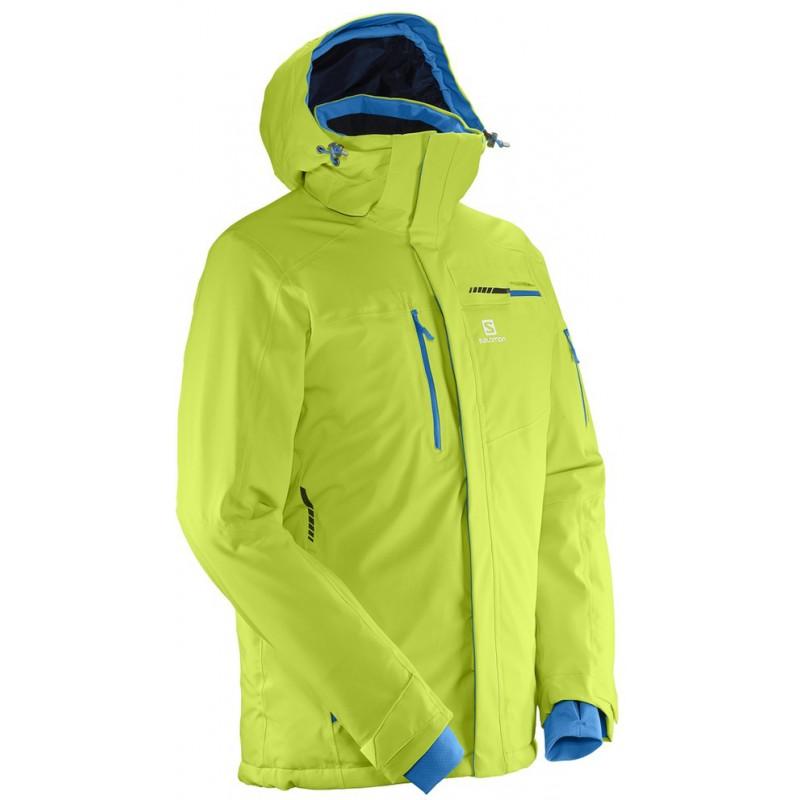 ... Salomon Brilliant Jacket M acid lime 397299 pánská nepromokavá zimní  lyžařská bunda (7) ... 10d9f85f174