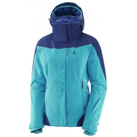 Salomon Icerocket Jacket W blue bird m.blue 397198 dámská nepromokavá zimní  lyžařská bunda aa5d25ebae