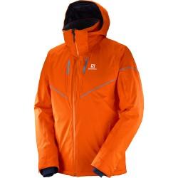 Salomon Stormrace Jacket M vivid orange 397360 pánská nepromokavá zimní lyžařská bunda
