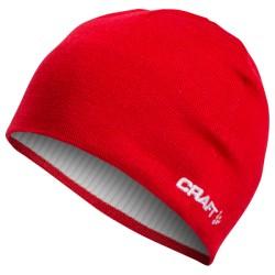Craft Race Hat 1430 Bright Red 1903020 lehká pletená zimní čepice