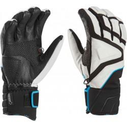 Leki Griffin Slide S GTX white/black/cyan unisex lyžařské rukavice