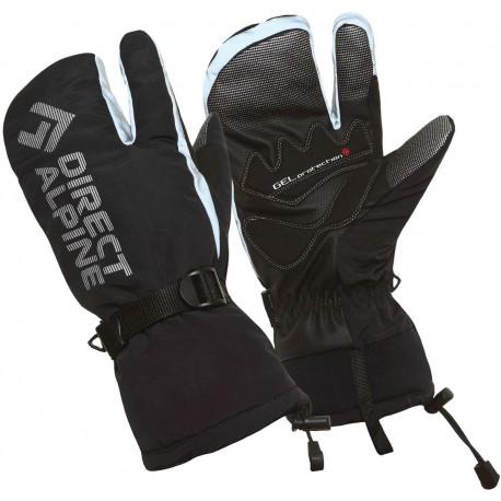 Direct Alpine Wallis 1.0 black unisex lyžařské tříprstové rukavice 4ef662bc3a