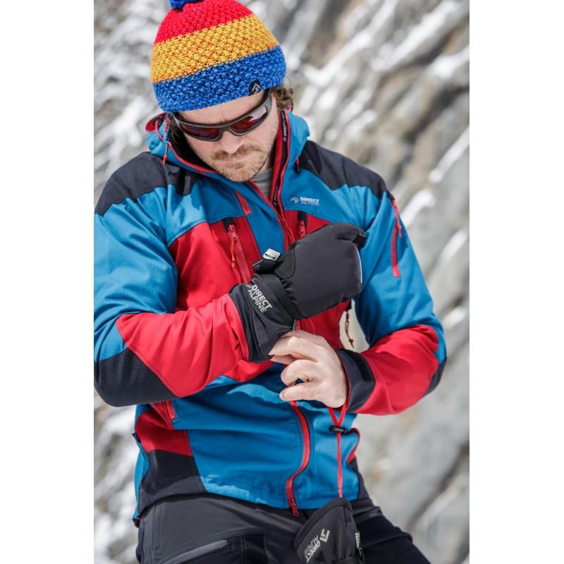 ... Direct Alpine Wallis 1.0 black unisex lyžařské tříprstové rukavice (1)  ... 64a090ab16