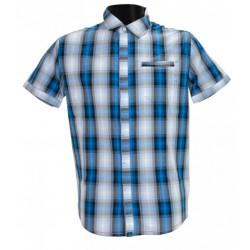 Husky Greim modrá pánská košile krátký rukáv