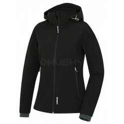 Husky Salen L černá dámská softshellová bunda Extend Therm Softshell Stretch 10000