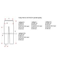 Husky Merino 100 Pants M černá pánské spodky dlouhá nohavice Merino vlna 1