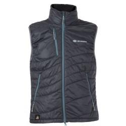 Sir Joseph Vertin Vest Man tmavě šedá pánská lehká vlněná vesta Tyrolská vlna
