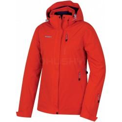 Husky Gairi L červená dámská nepromokavá zimní lyžařská bunda HuskyTech Stretch 15000