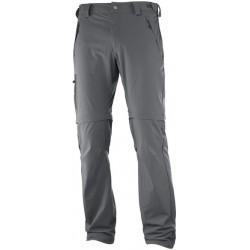 Salomon Wayfarer Zip Pant M f.iron 393117 pánské odepínací turistické softshellové kalhoty