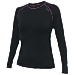 Jitex BoCo Ibraka 801 TSS černá/fialová dámské triko dlouhý rukáv Merino vlna