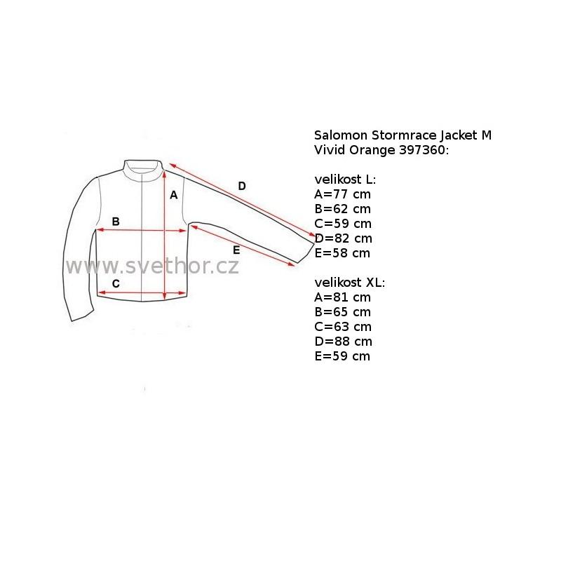 Reálně naměřené rozměry  Salomon Stormrace Jacket M vivid orange 397360  pánská nepromokavá zimní lyžařská bunda (2) 863231ae02a