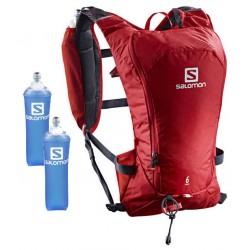 Salomon Agile 6l Set barbados cherry/graphite 401647 běžecký batoh + 2 ks měkké láhve