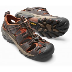 Keen Arroyo II M black olive bombay brown pánské kožené outdoorové sandály 8e5b6d06ef4