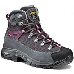 Asolo Finder GV ML GTX grey/gunmetal/grapeade dámské nepromokavé trekové boty