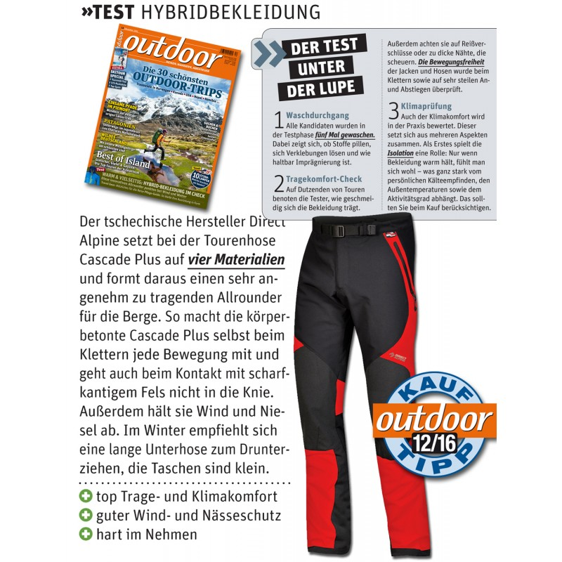 35e23edc9b32 ... Direct Alpine Cascade Plus 1.0 red pánské celoroční turistické kalhoty  6 ...
