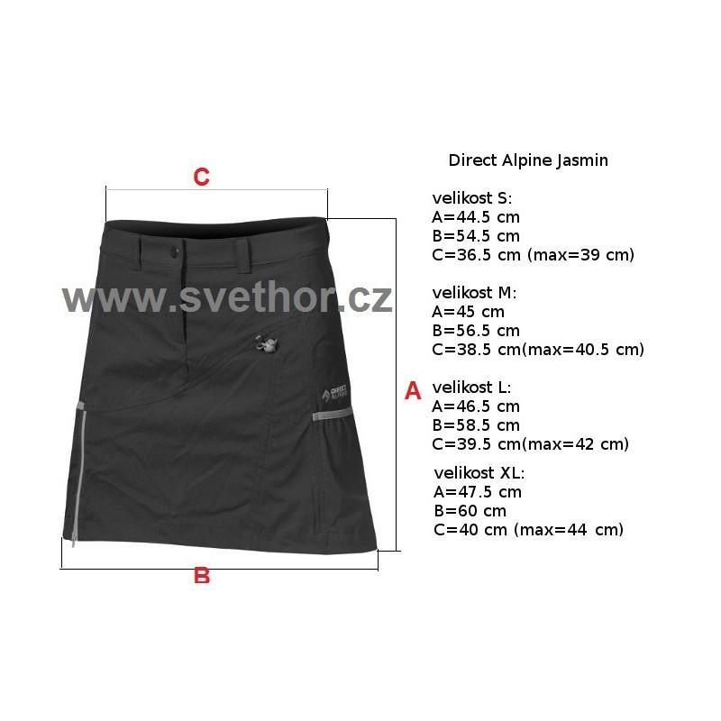7e6041e84e57 Reálně naměřené rozměry  Direct Alpine Jasmin 1.0 black red dámská  sportovní sukně 3