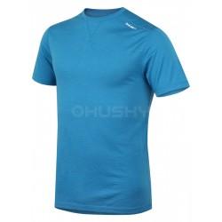 Husky Merino 100 Short Sleeve M modrá pánské triko krátký rukáv Merino vlna