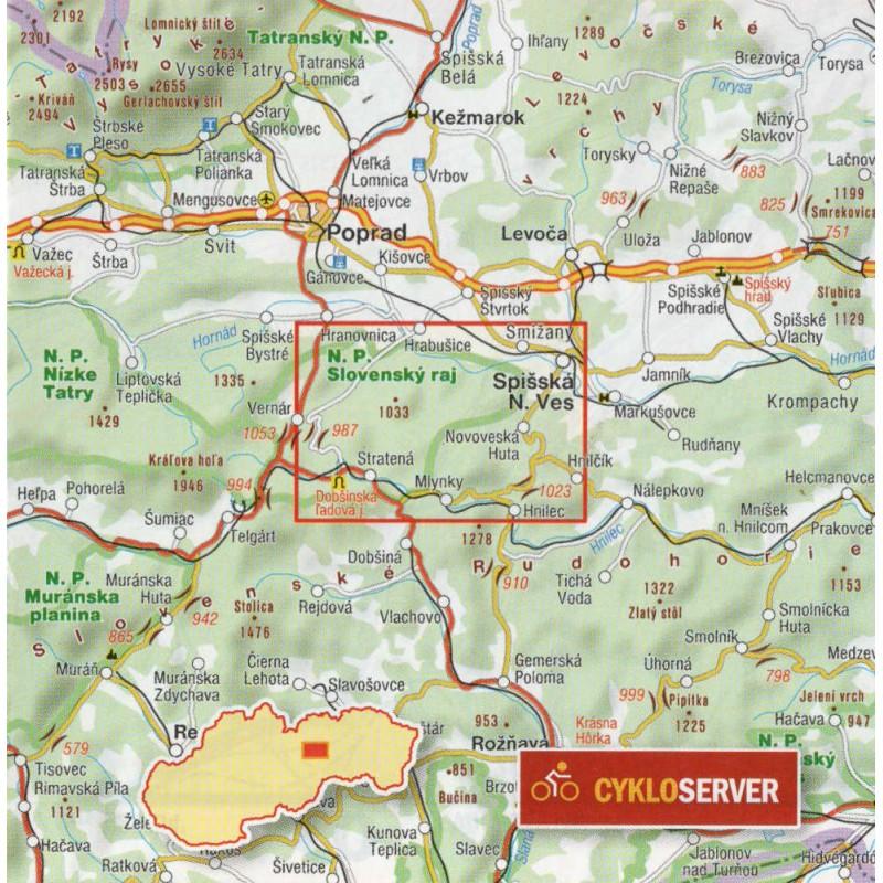 Shocart 704 Slovensky Raj 1 25 000 Turisticka Mapa