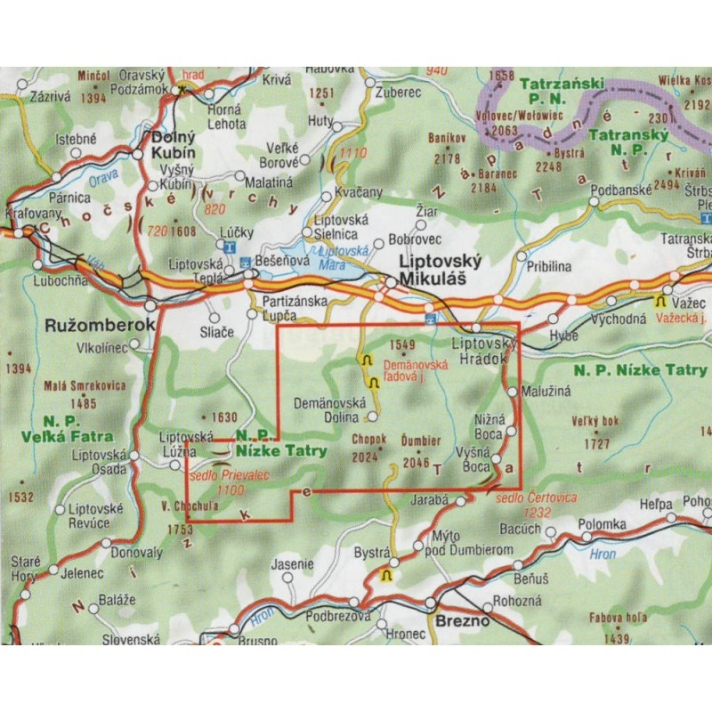 Shocart 703 Nizke Tatry 1 25 000 Turisticka Mapa