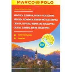 Marco Polo Slovinsko, Chorvatsko, Bosna a Hercegovina 1:300 000 autoatlas