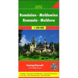 Freytag a Berndt Rumunsko, Moldavsko 1:500 000 II. JAKOST automapa