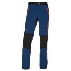 Kilpi Hosio-W tmavě modrá dámské odepínací turistické kalhoty (1)