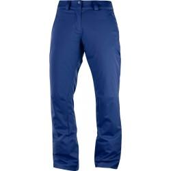 Salomon Stormpunch Pant W medieval blue 404448 dámské nepromokavé zimní lyžařské kalhoty