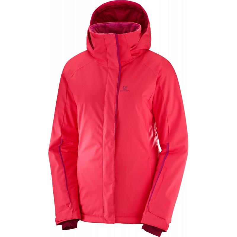 Salomon Stormpunch Jacket W hibiscus 404446 dámská nepromokavá zimní  lyžařská bunda e3ca1b41bd